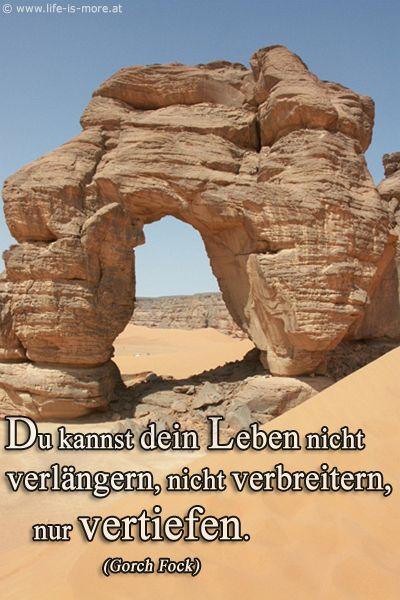 Du kannst dein Leben nicht verlängern, nicht verbreitern, nur vertiefen. Gorch Fock - Bildquelle: pixelio.de