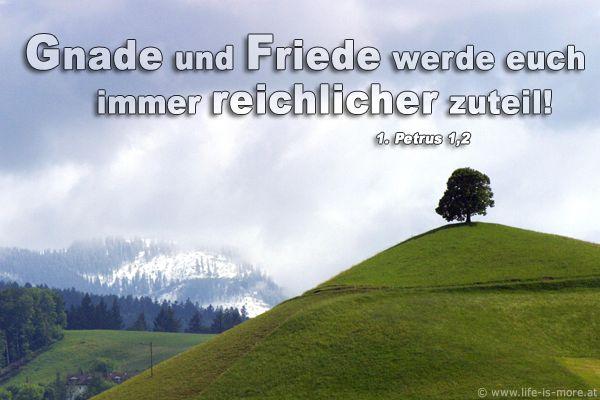 Gnade und Friede werden euch immer reichlicher zuteil! 1.Petrus 1,2 - Bildquelle: pixelio.de