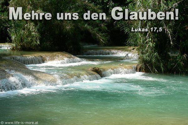 Mehre uns den Glauben! Lukas 17,5 - Bildquelle: pixelio.de