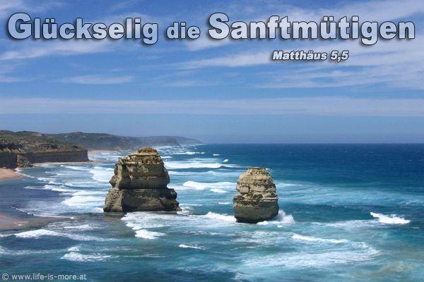 Glückselig die Sanftmütigen. Matthäus 5,5 - Bildquelle: pixelio.de