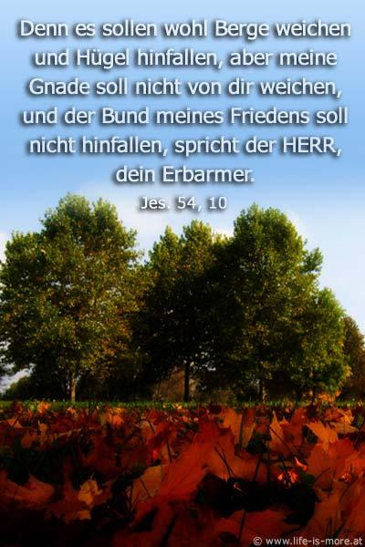 Denn es sollen wohl Berge weichen und Hügel hinfallen, aber meine Gnade soll nicht von dir weichen, und der Bund meine Friedens soll nicht hinfallen, spricht der HERR, dein Erbarmer. Jesaja 54,10 - Bildquelle: pixelio.de